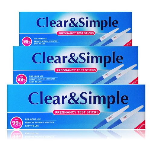 Clear&Simple Clear&Simple Zwangerschapstest 6 Test Sticks - 99% nauwkeurigheid