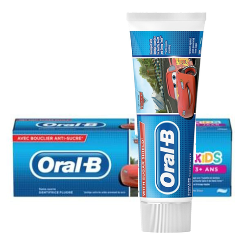Oral B Oral B kids  Disney Cars Tandpasta - 75 ml  - Met Suikerschild