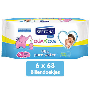 Septona Septona Baby - 99% Pure Water billendoekjes - 6 x 64