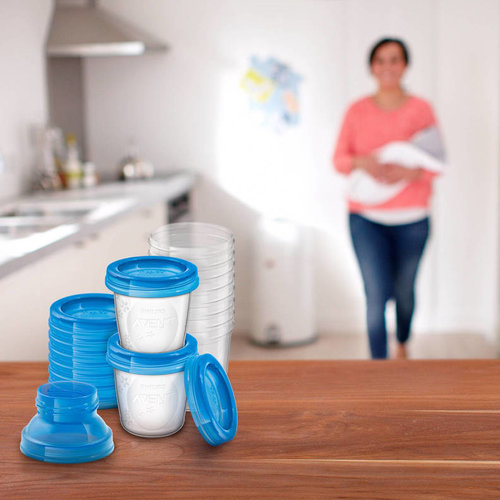 Philips Avent Philips Avent - Moedermelk en babyvoeding bewaarbekers - 22 delig
