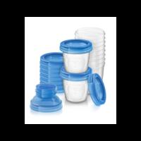 Philips Avent - Moedermelk en babyvoeding bewaarbekers - 22 delig