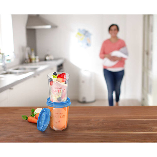 Philips Avent Philips Avent - Bewaarbekers Voor Baby Voeding - 5 bekers - 6+M