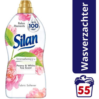Silan Silan - Wasverzachter - Aromatherapy Pioenroos & Witte Thee- 1375ml