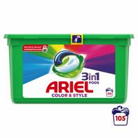 Ariel - 3 in 1 pods color wasmiddel - 105 pods Voordeelbox