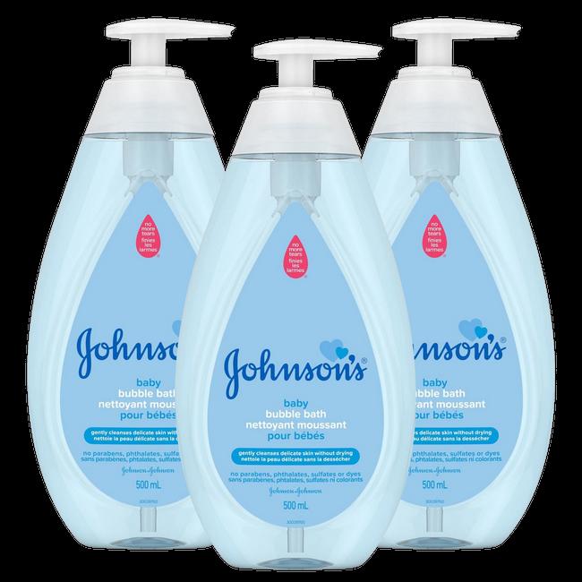 Johnson's - Baby Badolie - Pure & Gentle - 3x750ml - Inclusief pomp - Voordeelverpakking