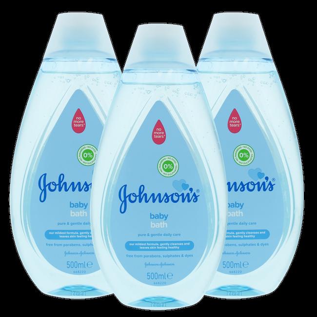 Johnson's - Baby Badolie - Pure & Gentle - 3 x 500ml - Voordeelverpakking