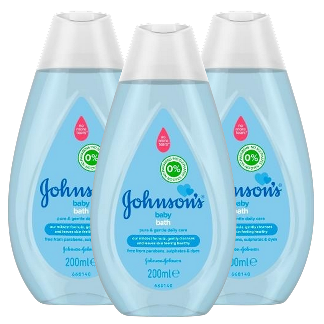 Johnson's Johnson's Baby Badolie NEW - Pure & Gentle - 3x200ml - Voordeelverpakking