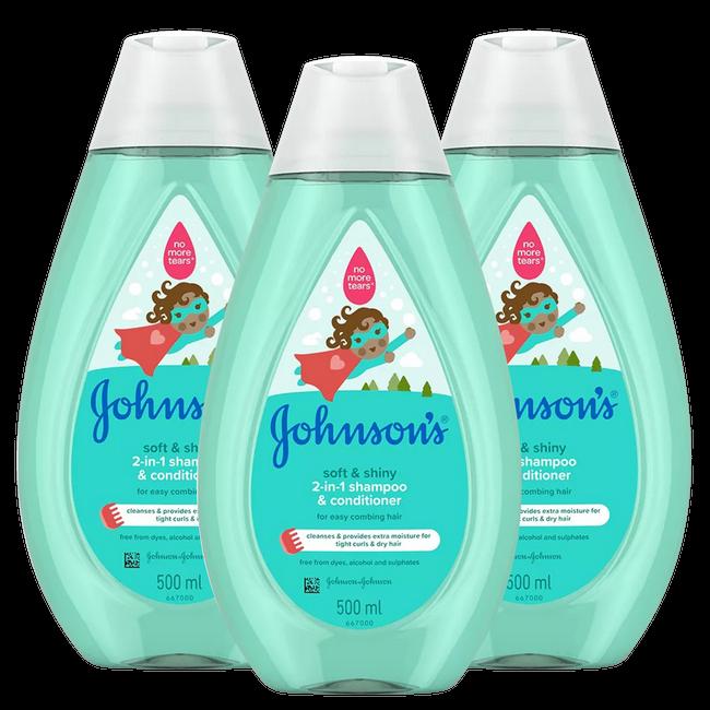 Johnson's Johnson's - Baby 2-in-1 Shampoo - Newpack 3x500 ml - Voordeelverpakking