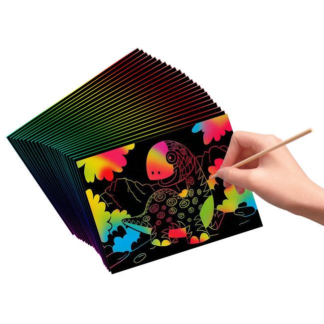 Creative Kids Kraskunst - Kras en tover een mooie tekening - 2dlg