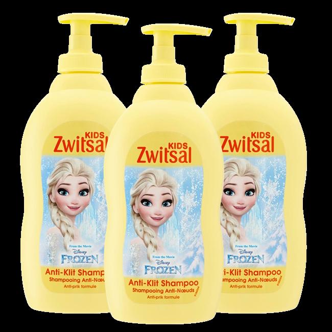 Zwitsal Zwitsal Baby - Anti Klit Shampoo Disney Frozen - 3 x 400ml  - Voordeelverpakking