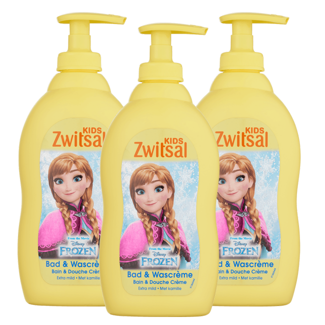 Zwitsal Zwitsal Baby - Disney Frozen Bad & Wascreme - 3 x 400ml - Voordeelverpakking