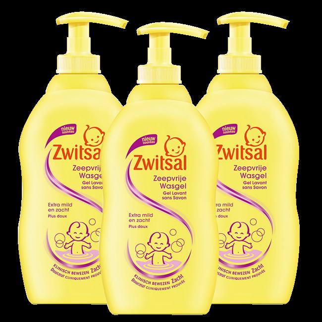 Zwitsal Zwitsal Baby - Zeepvrije Wasgel - 3 x 500ml  - Voordeelverpakking