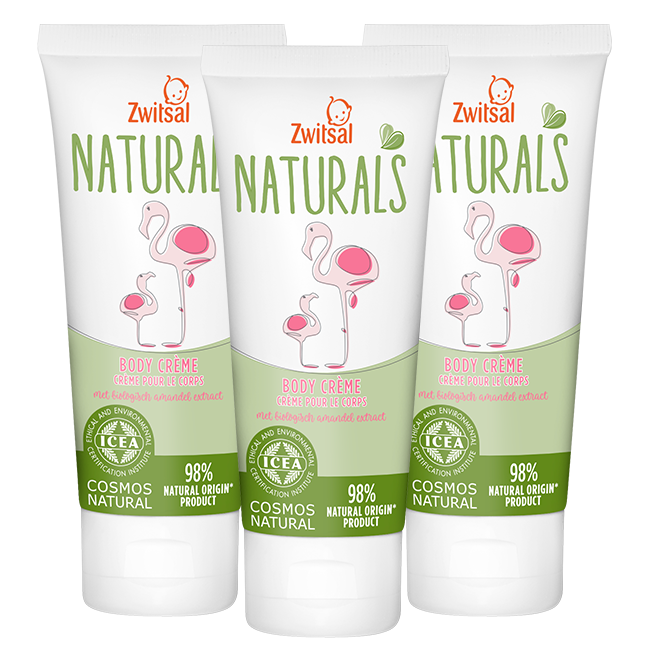 Zwitsal Zwitsal Naturals - Bodycreme - 3 x 100ml  - Voordeelverpakking