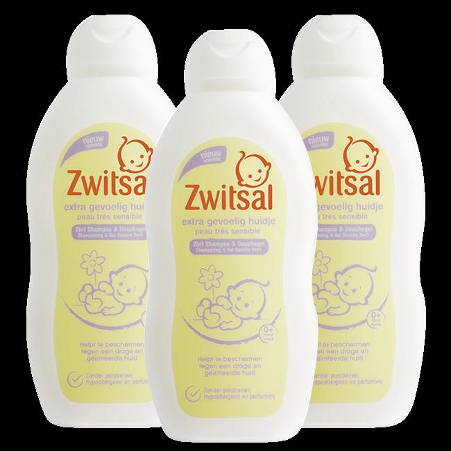 Zwitsal Zwitsal Baby - Shampoo Extra Gevoelig Huidje - 3 x 200ml - Voordeelverpakking