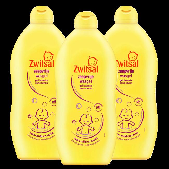 Zwitsal Zwitsal Baby - Zeepvrije wasgel - 3 x 700ml - Voordeelverpakking