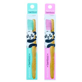 Absolute Bamboo Absolute Bamboo - Kind tandenborstel met zachte borstel - Blauw - Roze