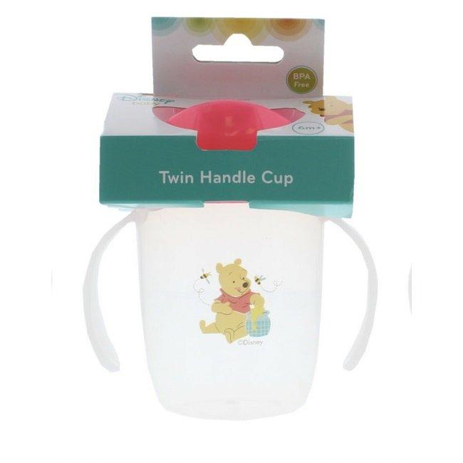 Disney Baby - Anti-lek beker met harde tuit 6m+ - Winnie the Pooh - 150ml - Roze