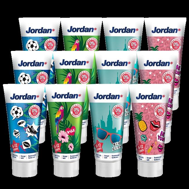 Jordan Jordan Kids - Tandpasta 6/12 jaar - Milde Fruitsmaak - 3x50ml - Voordeelverpakking