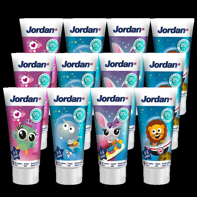 Jordan Jordan Kids - Tandpasta 0/5 jaar - Milde Fruitsmaak - 3x50ml - Voordeelverpakking