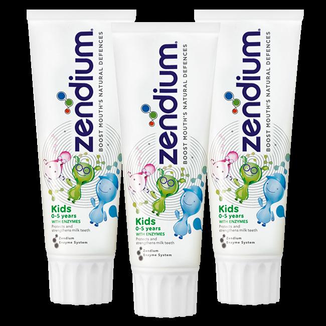 Zendium Zendium Kids - 0/5 jaar tandpasta - 3 x 75ml Voordeelverpakking
