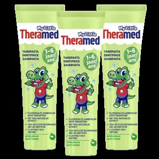 Theramed Theramed - My Little Tandpasta - 1 - 6 jaar - Appel - 3 x 75ml Voordeelverpakking