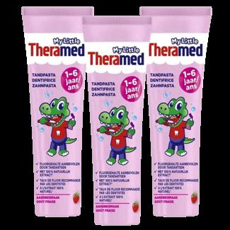 Theramed My little Theramed Tandpasta 1/6 jaar Aardbij - 3 x 75ml Voordeelverpakking