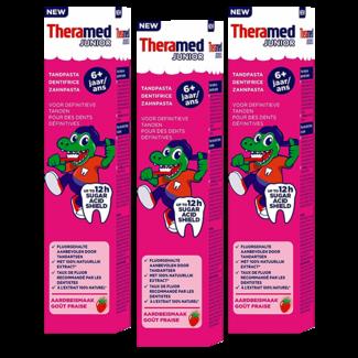 Theramed Theramed Junior - 6+ jaar tandpasta - Aardbij - 3 x 75ml - Voordeelverpakking