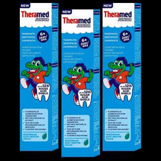 Theramed Theramed Junior - 6+ jaar tandpasta Muntsmaak - 3 x 75ml Voordeelverpakking
