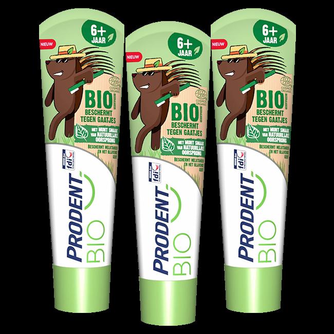 Prodent Prodent Bio Kids - 6+ jaar tandpasta Munt smaak - 3 x 75ml Voordeelverpakking