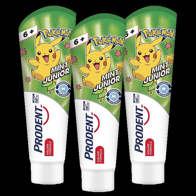 Prodent Prodent Kids - 6+ jaar tandpasta Pokémon - 3 x 75ml Voordeelverpakking