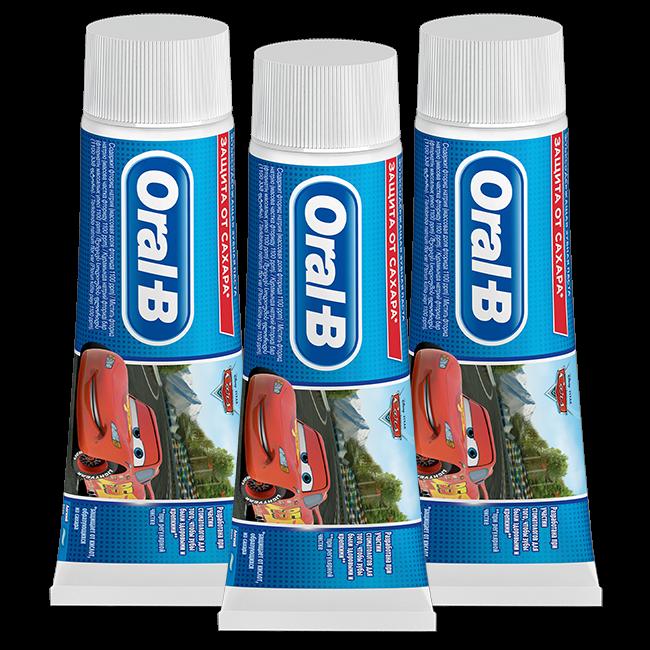 Oral B Oral B Kids - Disney Cars Tandpasta - 75ml - Met suikerschild - 3x75ml - Voordeelverpakking