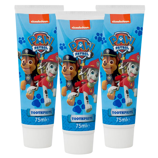 Nickelodeon Nickelodeon Paw Patrol - Kids Tandpasta Aardbij - 3 x 75ml Voordeelverpakking