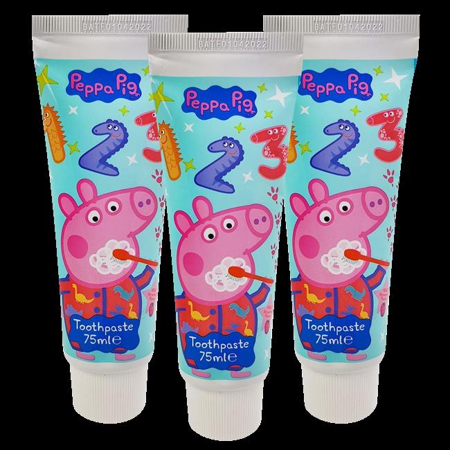 Peppa Pig - Tandpasta - Milde Mint smaak - 3x75ml - Voordeelverpakking