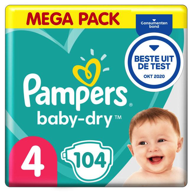 Pampers Pampers Baby Dry - Maat 4 - Mega Pack - 104 luiers - New