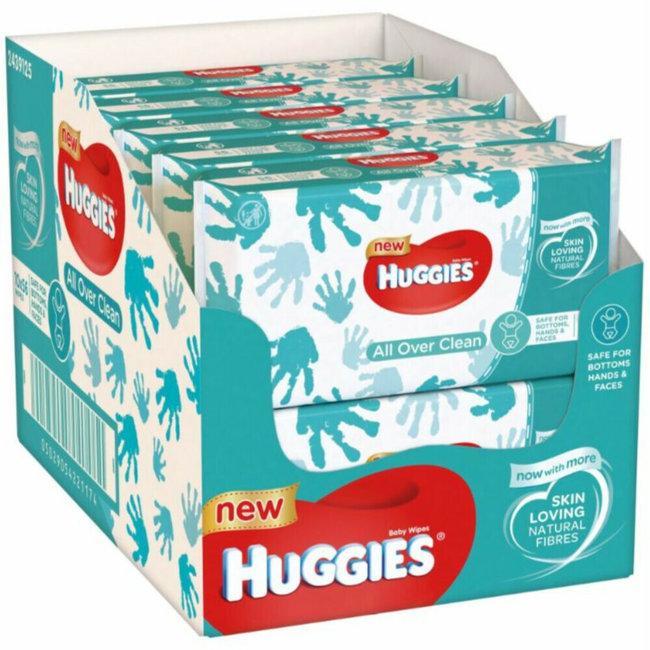 Huggies - All Over Clean 2 in 1 Billendoekjes - 560 hand- en billendoekjes