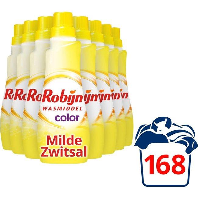 Robijn Klein & Krachtig Color Zwitsal Wasmiddel voordeelpakket - 168 wasbeurten - 8 x 735 ml