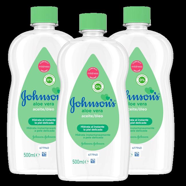 Johnson's - Baby Olie - Aloe Vera - 3 x 500 ml - Voordeelverpakking
