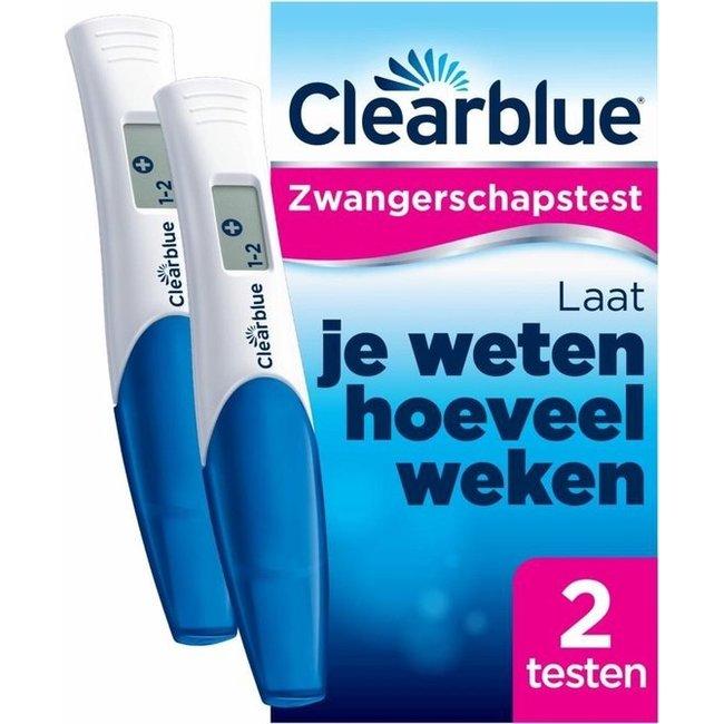 Clearblue Zwangerschapstest - 2 stuks - met Wekenindicator