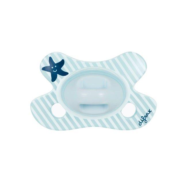 Difrax Fopspeen - Natural - Newborn - Blue