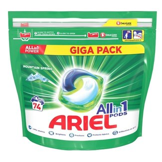 Ariel Ariel - All in one pods - Mountain Spring - 74 pods - Witte was - Mega Pack