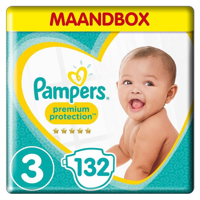 Pampers Premium Protection - Maat 3 - Maandbox - 132 luiers