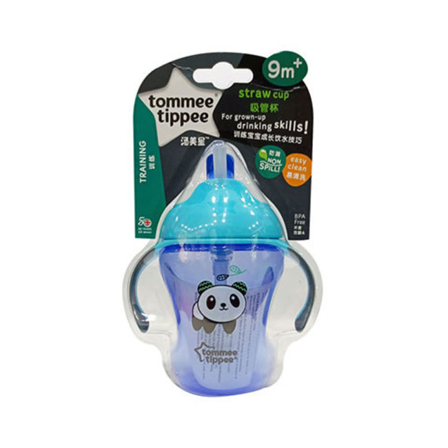 Tommee Tippee Easy Drink - Rietjesbeker Anti-Lek - Blauw - 230ml - 9+ maanden