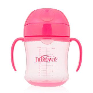 Dr. Brown Dr. Browns trainings Drinkbeker - Met zachte tuit - 180 ml - Roze