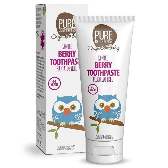 Pure Beginnings Pure Beginnings - Organic Tandpasta - 0 - 3 jaar - Bessen smaak - 75ml