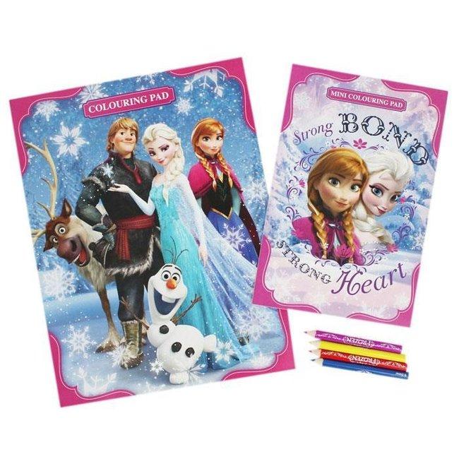 Disney Frozen - Kleurplaat set + Kleurpotloden - 30 kleurplaten