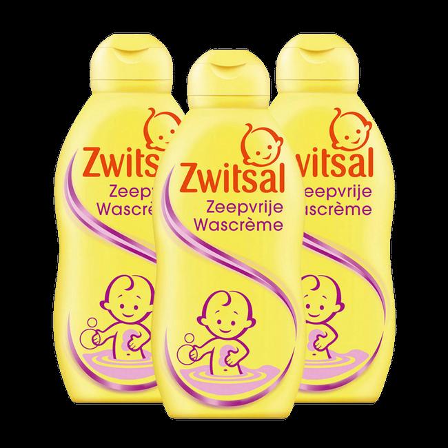 Zwitsal Zeepvrije Wascreme - 3 x 200ml - 3-Pack Voordeelverpakking