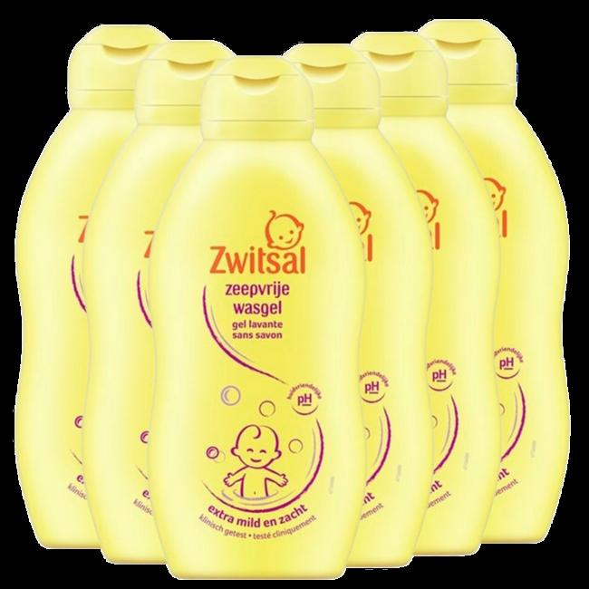 Zwitsal Zwitsal Baby - Zeepvrije wasgel - 6 x 700ml - 6-Pack Voordeelverpakking