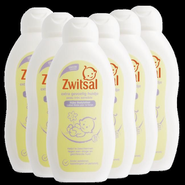 Zwitsal Zwitsal Baby - Shampoo Extra Gevoelig Huidje - 6 x 200ml - 6-Pack Voordeelverpakking