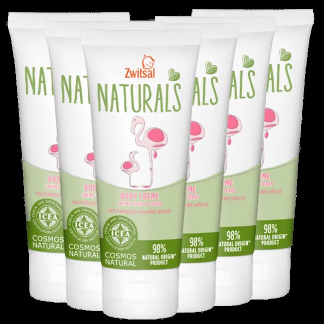 Zwitsal Zwitsal Naturals - Bodycreme - 6 x 100ml - 6-Pack Voordeelverpakking