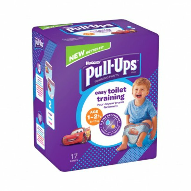 Huggies - Pull Ups Boy Oefenbroekjes - 8/17kg - 17 stuks